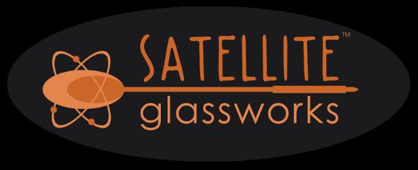 Satellite Glassworks John Krizan glass blowing logo