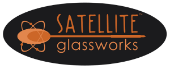 Satellite Glassworks John Krizan glass blowing header logo