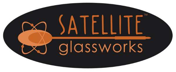 Satellite Glassworks John Krizan glass blowing logo